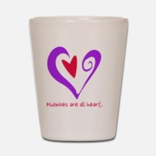 MidwivesHeartPurple400 Shot Glass