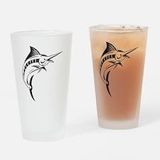 blue marlin jumping Drinking Glass