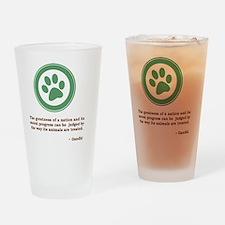 GandhiGreenPaw Drinking Glass