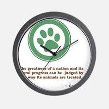 GandhiGreenPaw Wall Clock