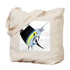 sailfish jumping Tote Bag