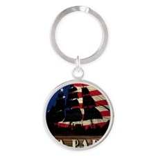 ship_mouse Round Keychain