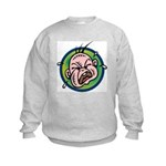 Funny Screaming Crying Baby Art Kids Sweatshirt