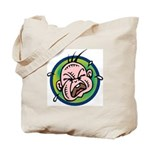 Funny Screaming Crying Baby Art Tote Bag