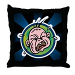 Funny Screaming Crying Baby Art Throw Pillow