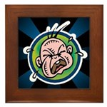 Funny Screaming Crying Baby Art Framed Tile