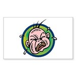 Funny Screaming Crying Baby Art Sticker (Rectangul