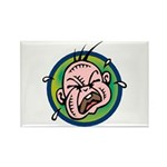 Funny Screaming Crying Baby Art Rectangle Magnet (