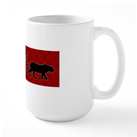 tiger_bumper_sticker Large Mug