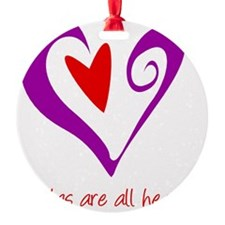 DoulasHeartPurple Ornament