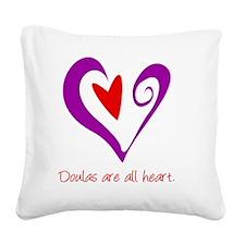 DoulasHeartPurple Square Canvas Pillow