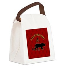 tiger_lapel-sticker Canvas Lunch Bag