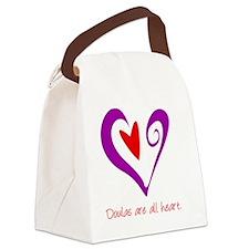 DoulasHeartPurple Canvas Lunch Bag