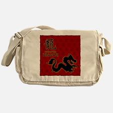 dragon_10x10_red Messenger Bag
