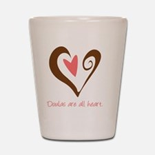 DoulaHeartBrown Shot Glass