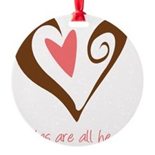 DoulaHeartBrown Ornament