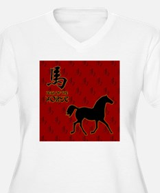 horse_10x10_red_F T-Shirt