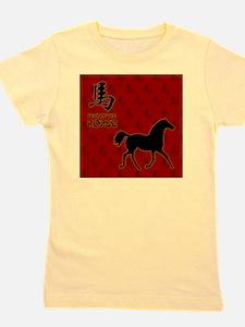 horse_10x10_red_FULL Girl's Tee