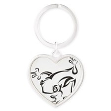 frog-black Heart Keychain