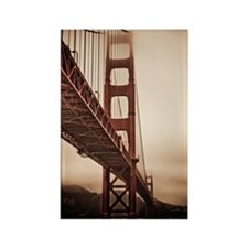 Golden Gate Bridge in The Fog Rectangle Magnet