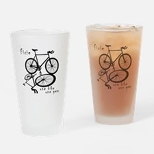Fixie - one bike one gear Drinking Glass