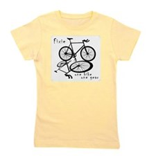 Fixie - one bike one gear Girl's Tee