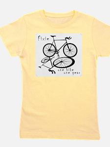 Fixie - one bike one gear Girl's Tee