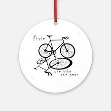 Fixie - one bike one gear Round Ornament