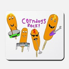 2-corndogs_rock_1 Mousepad