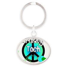 Pharmacy Tech BLUE BIRD Oval Keychain