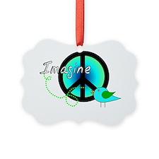Imagine BLUE GREEN Ornament