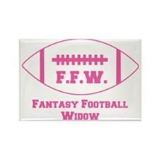 2-fantasy-football-widow Rectangle Magnet