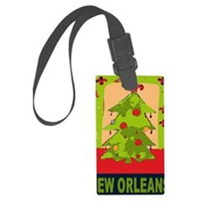 New Orleans Christmas tree Luggage Tag