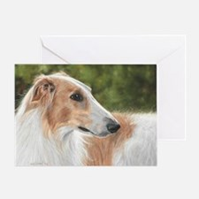 Borzoi3 Greeting Card