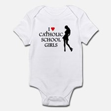 I LOVE CATHOLIC SCHOOL GIRLS  Infant Bodysuit