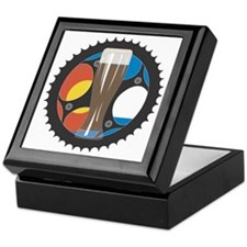 bike beer wht outlne Keepsake Box