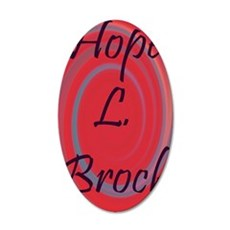 Hope print 35x21 Oval Wall Decal