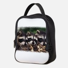 3 Raccoons Neoprene Lunch Bag