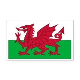 "Welsh flag 3"" x 5"""