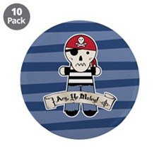 "Arg Ye Matey Pirate 3.5"" Button (10 pack)"