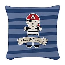 Arg Ye Matey Pirate Woven Throw Pillow