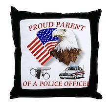 Cute Proud deputy sheriff Throw Pillow