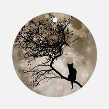 catmoonmp Round Ornament