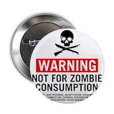 """ZombieConsumptionNoBG2 2.25"""" Button"""