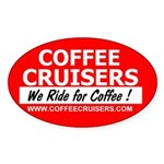 Coffee Cruisers Oval Sticker