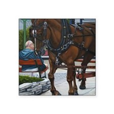 """A day on the Island Square Sticker 3"""" x 3"""""""