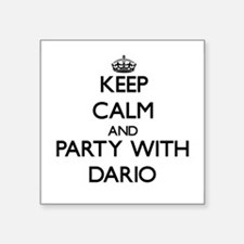 Keep Calm and Party with Dario Sticker