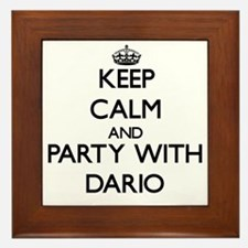 Keep Calm and Party with Dario Framed Tile