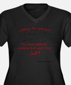 Looking for  Women's Plus Size Dark V-Neck T-Shirt