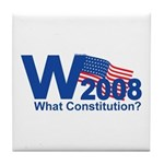 W 2008-What Constitution? Tile Coaster
